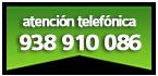 Atención telefónica al 938 910 086