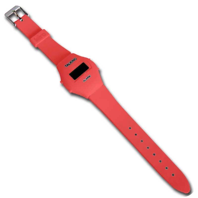 Reloj de Pulsera Parlante 'Colors' - Rojo