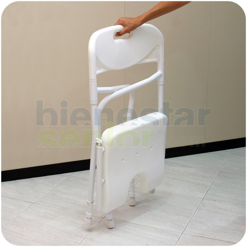 Silla de ducha con asiento en u plegable productos for Sillas para ducha plegables