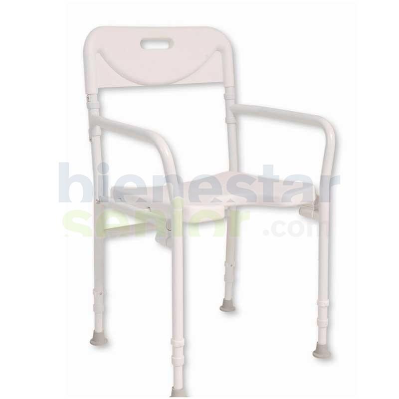 Silla Ducha Aluminio Plegable Higiene Intima