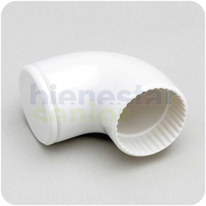 Angulo 90º Sistema Modular Barra Estriada Blanca
