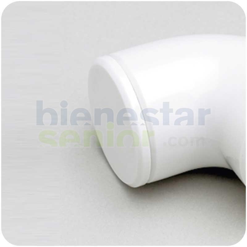 Tapa Final Sistema Modular Barra Estriada Blanca