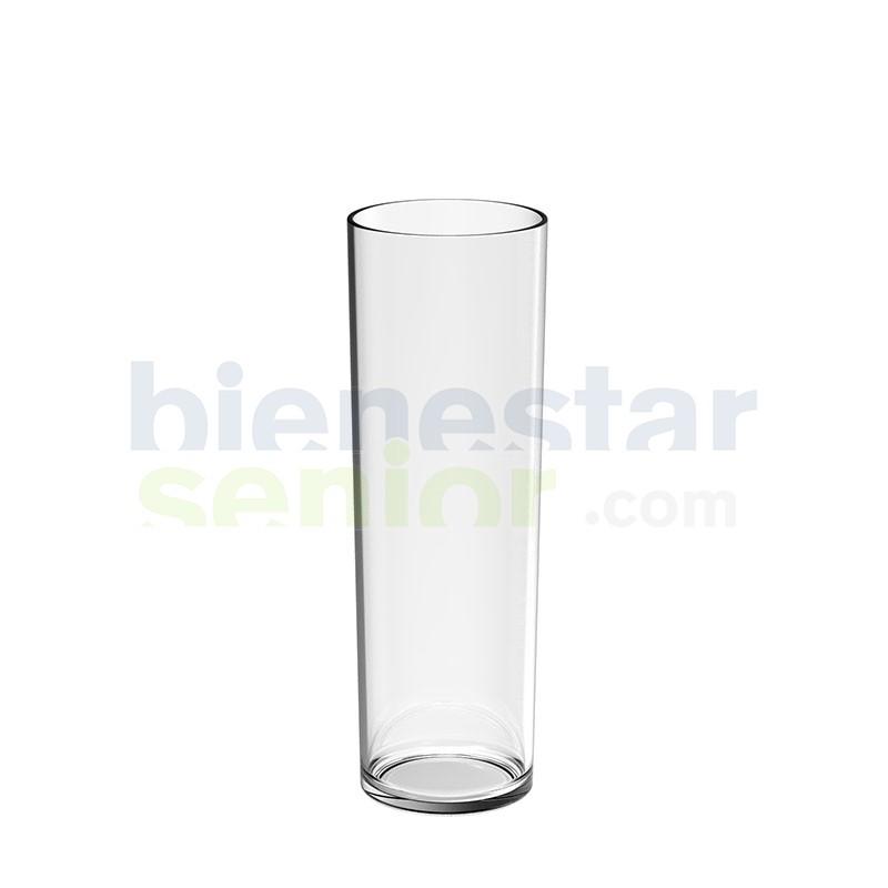 Vaso Tubo Pequeño Irrompible Transparente (24 uds.)