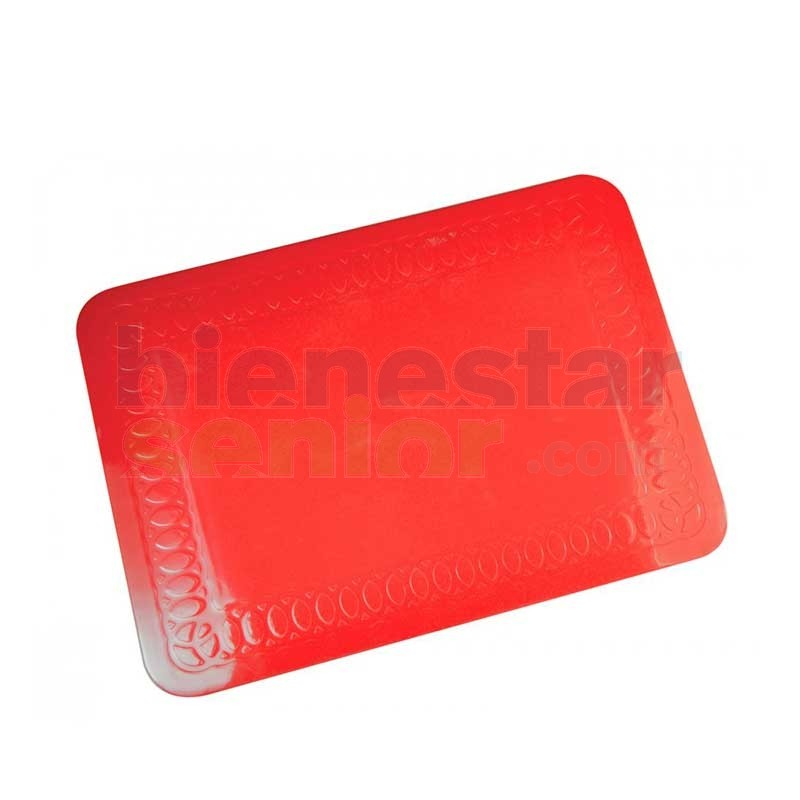 Tapete Antideslizante Pequeño Rojo