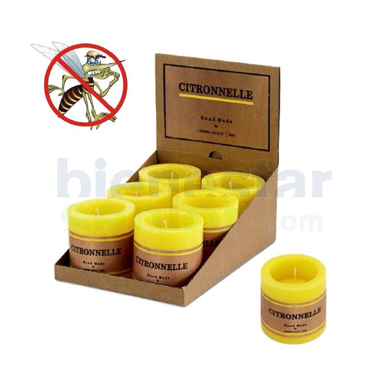 Vela Citronella Antimosquitos Hueca