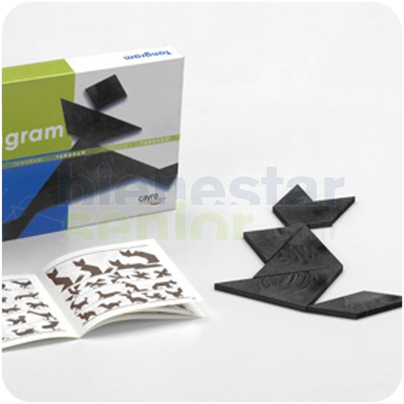 Juego Tangram Diseño Elegante Negro