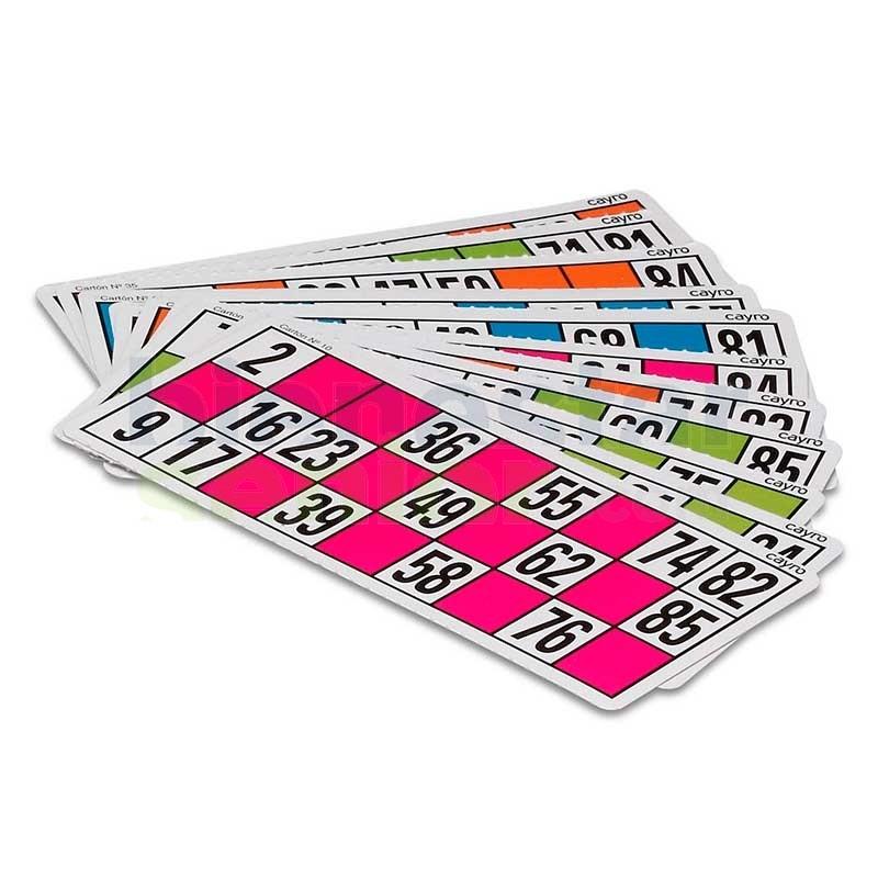 Cartones para Lotería / Bingo Gran Tamaño