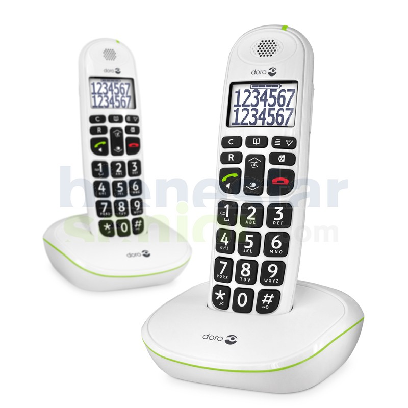 Doro PhoneEasy 110 Duo - Teléfono Inalámbrico Teclas Parlantes