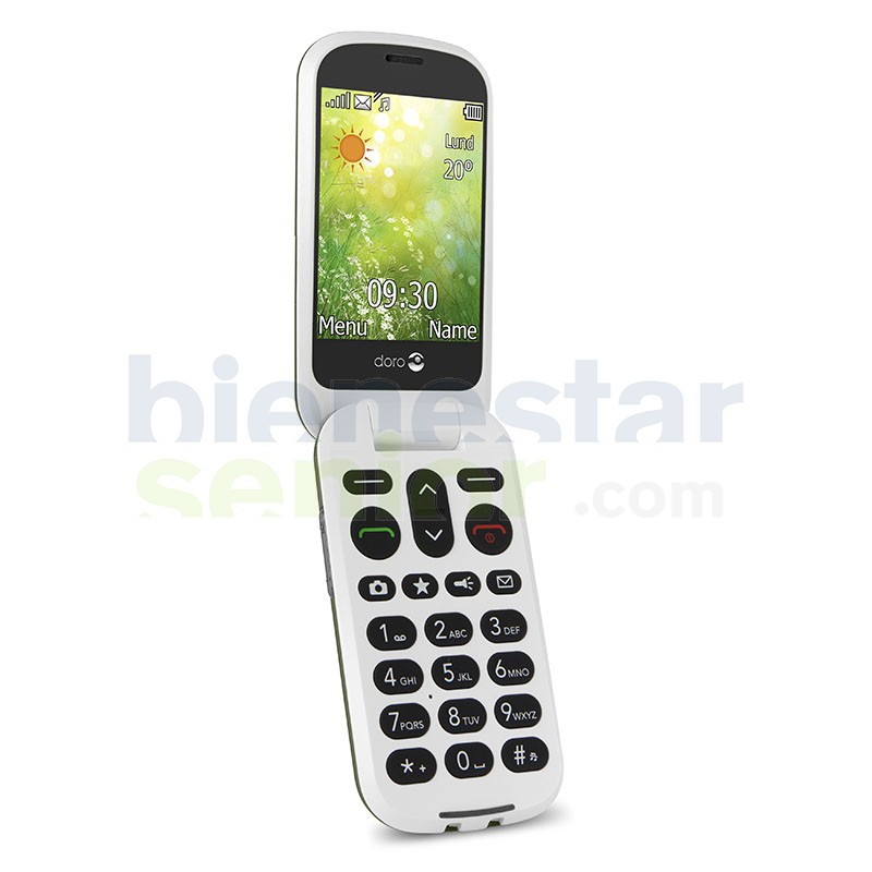 Doro 6050 - Teléfono móvil con pantalla grande y tapa