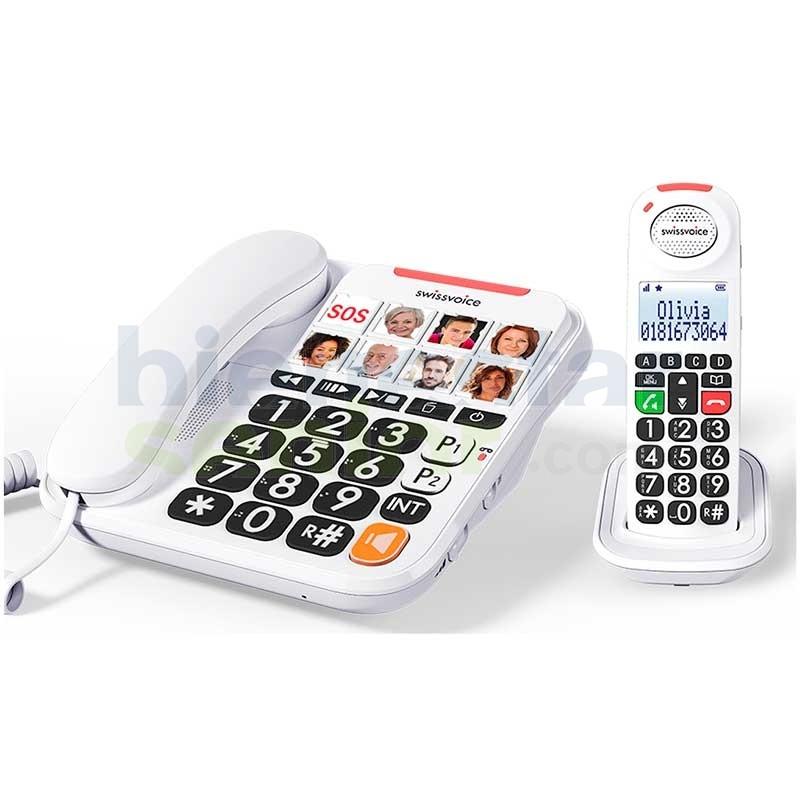 Telefono Combo Base Fototeclas +Inalámbrico - Swissvoice Xtra 3155