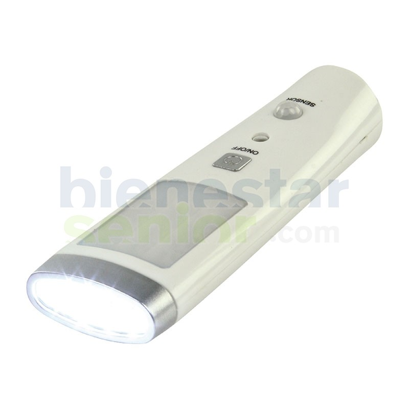 Lámpara Led Sensor y Linterna -Recargable-