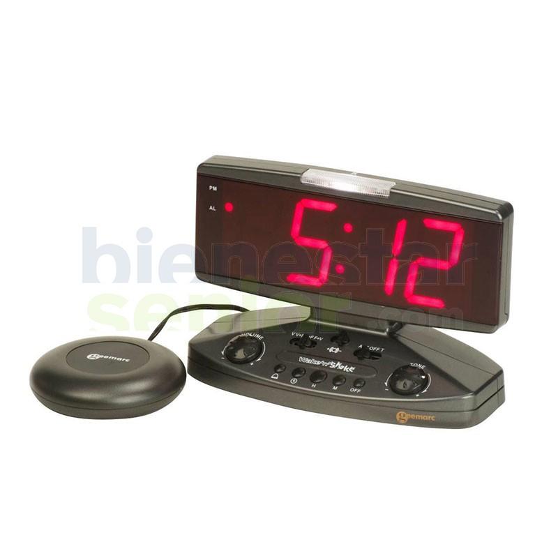 Reloj Despertador Números Grandes y Vibrador de Almohada