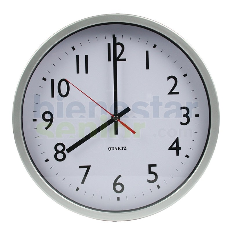 Reloj de pared numeros grandes productos para mayores for Relojes de salon modernos