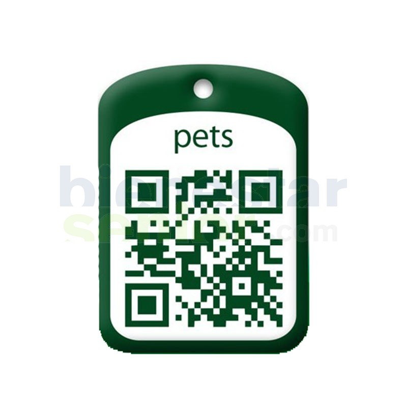 Placa Identificación Código QR para Mascotas