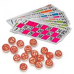 Pack de Cartones y Fichas para Lotería / Bingo Gran Tamaño
