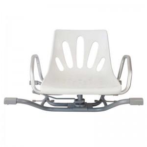 Silla Giratoria Bañera Aluminio Brazos Extraibles