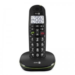 Doro PhoneEasy 110 - Teléfono Inalámbrico Teclas Parlantes -Negro-
