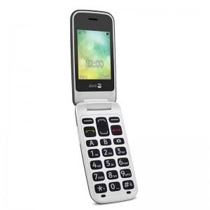 Doro 2424 - Teléfono Móvil Con Tapa y Reloj Externo