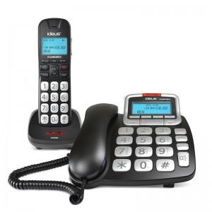 Teléfono Sobremesa + Inalámbrico Teclas Grandes